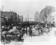 VIEW-2422 | Market day, Jacques Cartier Square, Montreal, QC, about 1890 | Photograph | Wm. Notman & Son |  |