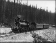 VIEW-2508 | 100 ton mountain engine on the C.P.R., near Field, BC, 1889 | Photograph | William McFarlane Notman |  |
