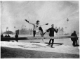 VIEW-3147.0 | Hurdle race on snowshoes, Montreal, QC, 1892 | Photograph | Wm. Notman & Son |  |