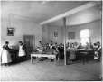 VIEW-4038 | Sewing class, Roberval Convent, Lake St. John, QC, about 1906 | Photograph | Wm. Notman & Son |  |