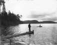 VIEW-4248 | Pêche au lac Wyagamac, QC, 1907 | Photographie | Wm. Notman & Son |  |
