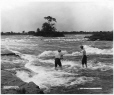 VIEW-4275 | Fishing in Lachine Rapids, QC, 1901 | Photograph | Wm. Notman & Son |  |