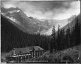 VIEW-4755 | Glacier House and Illecillewaet Glacier, BC, 1909 | Photograph | William McFarlane Notman |  |