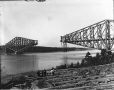 VIEW-5664 | Quebec Bridge during construction, Quebec City, QC, 1916 | Photograph | Wm. Notman & Son |  |