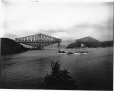 VIEW-5669 | Placing of centre span, Quebec Bridge, Quebec City, QC, 1916 | Photograph | Wm. Notman & Son |  |