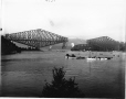 VIEW-5670 | Placing of centre span, Quebec Bridge, Quebec City, QC, 1916 | Photograph | Wm. Notman & Son |  |