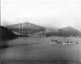 VIEW-5671 | Placing of centre span, Quebec Bridge, Quebec City, QC, 1916 | Photograph | Wm. Notman & Son |  |