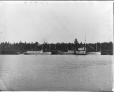 VIEW-6550 | Boats on the Peribonka River, Roberval, Lake St. John, QC, about 1910 | Photograph | Wm. Notman & Son |  |