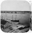 N-0000.193.258.1 | Vue du port de Kingston depuis la coupole de l'hôtel de ville, Ont., vers 1860 | Photographie | William Notman (1826-1891) |  |