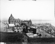 VIEW-8010 | Chateau Frontenac and Lower Town from the rampart, Quebec City, QC, 1915 (?) | Photograph | Wm. Notman & Son |  |